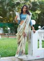 Safire Cotton Printed Party Wear Saree