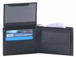 Black Leather Men''S Wallet