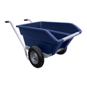 Plastic Double Wheel Barrow