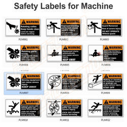 Safety Labels for Machine