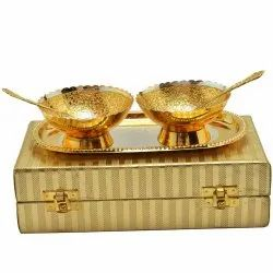 Gold and Silver Plated Diwali Gift Bowl Set