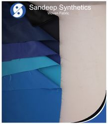 Black And Sky Blue Polyster And Nylon Butter NS Fabric, Use: In Textile Industries