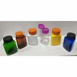 65 CC Triangular Pet Jar With CRC And Fliptop