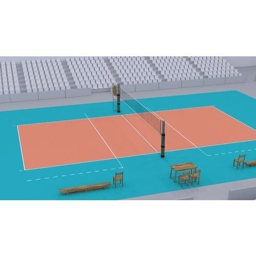 Unique PU Volleyball Court Flooring Service