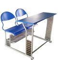 Mild Steel Blue School Bench
