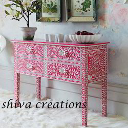 Shiva Creations Rectangular Mother of Pearl Inlay Furniture