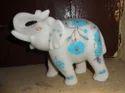 Marble White Elephant Statue