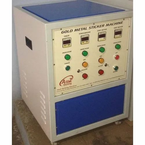 Gold Metal Sticker Labelling Machine