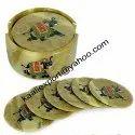 Elephant Soapstone Design Coaster Set