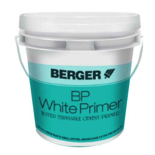 Berger Paints Interior: Water Thinnable Cement Primer Berger BP White Primer, For