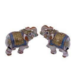 Marble Elephant Set