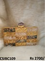 brass  designer box clutch