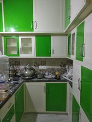 PVC U Shape Modular Kitchen, Warranty: 10-15 Years
