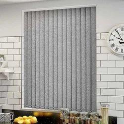 Grey Vertical Window Blinds