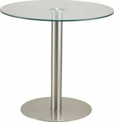 GLASS ROUND MEETING TABLE