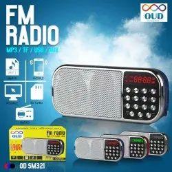 Gray Portable FM Radio