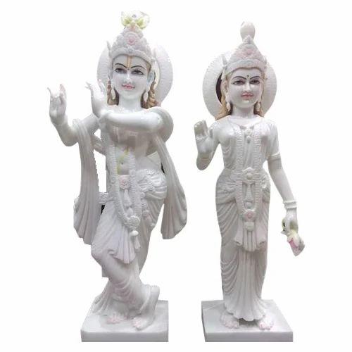 White Hindu Marble Radha Krishna Statue Rs 15500 Pair F A Khatri