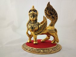 Metal Holy Kamdhenu Cow Statue For Good Luck & Prosperity