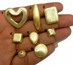 Brushed Gold Plated Jewelry Beads - Copper Bead Findings