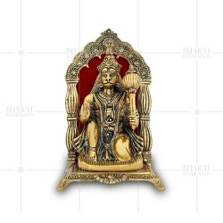 Gold Plated Hanuman Idol