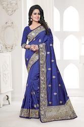 PR Fashion New Silk Embroidered Saree