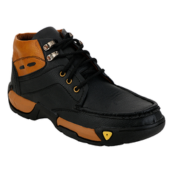 Black Brown Short Men's Shoes