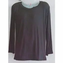 Full Sleeve Ladies Plain Cotton Top, Size: S-XL
