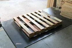 Rectangular 2 Way Babool Wood Pallet, For Used For Warehousing Purposes