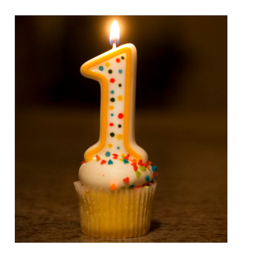 Image result for 1st birthday candle