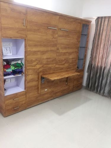 Wall Bed Cabinet With Drop Down Desk