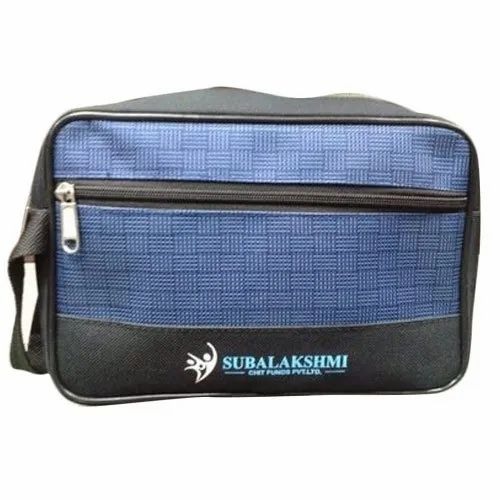 Blue and Black Toiletry Bag
