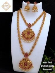 Karishma Kreations Matte Finish Combo Jewellery Set - Combo12RG