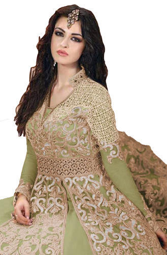 46f58ceb44 Net Party Wear Anarkali Style Lehenga Suits