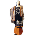 Party Wear Embroidered Fancy Silk Dress Material
