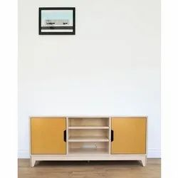 Free Unit Wooden TV Cabinet, For Residential