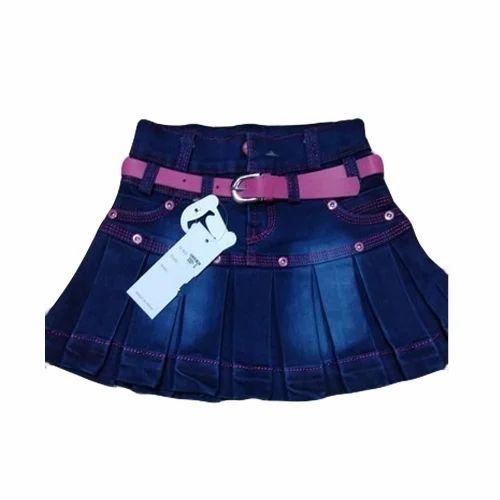 25a54a6a28 Girls Blue Denim Skirt, Size: 20 -30 Inch, Rs 200 /piece   ID ...