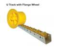 Metafold U Track Roller With Flange Wheel