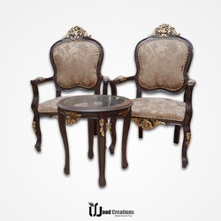 VI Brown Wooden Fancy Dinning Chair, For Home