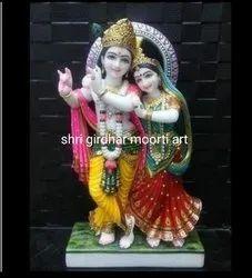 Divine Radha Krishna  Marble Statue