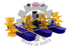 Nandini Gears(tm) Surface Floating 1 HP Four Paddle Wheel Aerator, 3 (m3/h), 3 mm