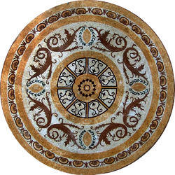 Pietra Dura Dining  Semi Precious Stone Inlay Table Tops