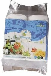 Century 2 Ply Paper Kitchen Towel 21 x 22 cm, Packaging Type: Packet