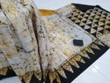 Casual Wear Bagru Printed Cotton Sarees, 5.2 M (separate Blouse Piece)