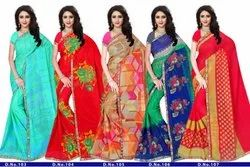 Floral Print Casual Wear Anmazing Factory Reniyal Printed Daily Wear Saree