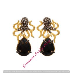 Octopus Earring Black Onyx Gemstone Earring