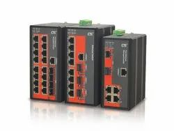 CTC UNION Black Industrial Managed Ethernet Switches IFS-1604GSM
