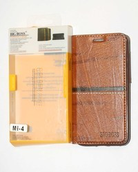 Brown Leather Wallet Flip Mobile Cover