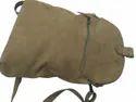 Suede Leather Backpack Cum Messenger Bag