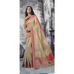 Party Wear Ladies South Cotton Saree, 5.5 m (separate blouse piece)