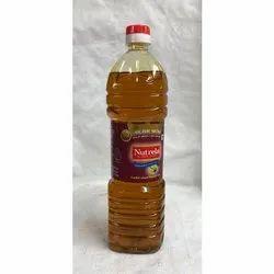 1 Ltr Nutrela Kachi Ghani Mustard Oil Bottle